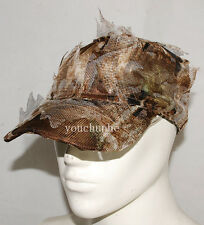 3D REALTREE CAMO HUNTING AIRSOFT LEAF NET GHILLIE HAT CAP -32548