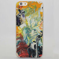 Abstract Crazy Trippy Hippy Marijuana Hard Case Cover For iPhone 5 6 7 8 Samsung