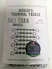 #10 SS Bead Chain Swivel 6 Ball 100lb Pack lot of 25 50 100 1000 Fishing Swivels