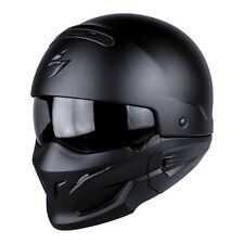 Scorpion EXO Combat Open Face Motorcycle Helmet - Matt Black