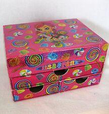 Lisa Frank Stationery Jewelry Box Organizer Drawers Candy Lolipop Gumdrop Girl