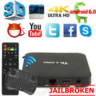 Hot S905X TX3 Pro Smart TV Box Android 6.0 Quad Core Fully Loaded Wifi +Keyboard