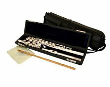 Advanced Open Hole FLUTE Silver Plated B Foot Pointed Arms  Engraved Keys Lip
