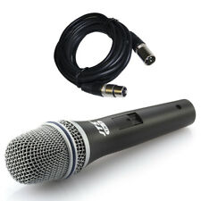 JTS TX-7 Handheld Dynamic Wired Vocal + Instrument Microphone + XLR Mic Lead