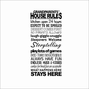 Quotes Wall Stickers Family Kids DIY Removable Vinyl Decal Mural Home Decor 8240