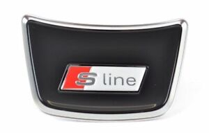 Audi S line Steering Wheel Cover A1 A6 A7 A8 Emblem Logo Genuine New