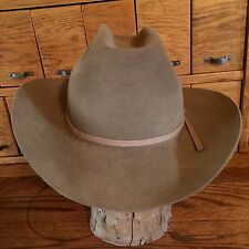 Stetson 5x Beaver Cowboy Hat Size 7 1/8 Long Oval Vintage Brown Western W/O Box