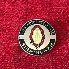 BSA Motor Cycles Birmingham Chrome Enamel Pin Badge Motorbike B/3