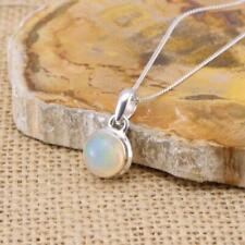 Large Round Ethiopian Welo Opal 925 Sterling Silver Pendant Necklace Jewellery