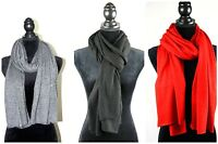 Pure Cashmere Scarf Knit Men Women Wool Grey New Warm Woven Muffler Wrap Black