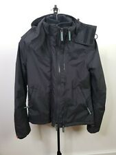 Mens Small Superdry Black And Green Tech Windcheater Hooded Zip Jacket