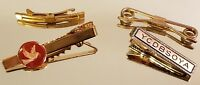 Vintage Tie Clips Clasps Swank Hickok YCDBSOYA Musical Dove Lot of 4