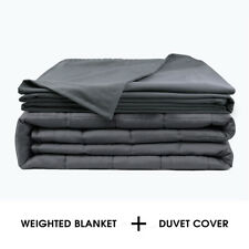 """Anxiety Weighted Blanket W/Cover 72"""" x 48"""" Twin Size 15lbs Reduce Stress All Age"""