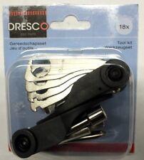 Werkzeugset 18x Fahrrad - Multitool - Miniwerkzeug - Kombiwerkzeugset DRESCO