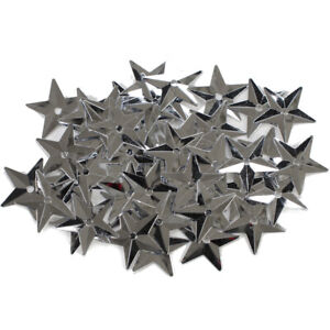 Star Sequins Silver 18Mm50-Pack