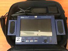 "DataVideo TLM-70D 7"" HD DV/AV Input Monitor w/ 2 Speakers + AC Adapter + Case"