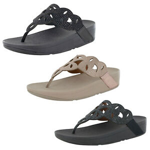 Fitflop Womens Elora Crystal Toe Thong Sandal Shoes