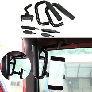 Front Grab Handles Bar with Phone Mount Kits For Jeep Wrangler JK JKU 2007-2017