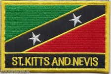 Saint Kitts and Nevis Flag Embroidered Patch Badge - Sew or Iron on