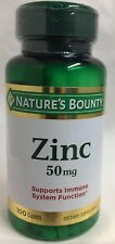 Nature Bounty Zinc Caplets Supports Immune System Dietary Supplement