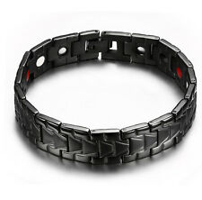 Power Link Chain Bracelet Men Gifts New Black Stainless Steel Magnetic Healthy