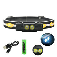 USB Rechargeable LED Headlamp Camping Hiking Fishing Head Torch Waterproof 18650