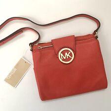 Michael Kors * Fulton Leather Crossbody Bag in Mandarin Red COD PayPal