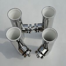 4PCS Novel Tournament Style Stainless Steel Clamp On Fish Rod Holder 7/8''-1''