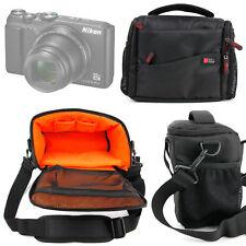 Black & Orange Water-Resistant Bag for Nikon Coolpix A300 | A900 | B500 Cameras