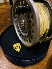 Vintage Hardy Marquis Salmon Number 2 Fly Reel with Case & Sink Tip Spey Line