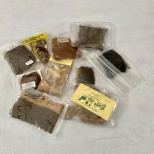 Fly Tying Furs For Fly Fishing, 10 Packets Various, Veniard, Slater, Buz's