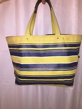 pre-loved authentic JACK SPADE striped canvas BEACH BAG tote $189msrp