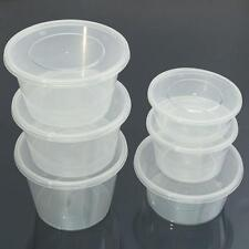 100pcs to 1000pcs All Size Take Away Containers Takeaway Food Plastic Sauce NEW