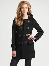 Burberry Brit Minstead Wool Toggle Black Coat Size US 2 $995+