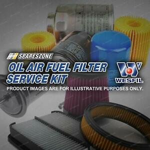 Wesfil Oil Air Fuel Filter Service Kit for Toyota Supra MA71 3.0L 10/88-04/93