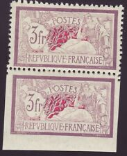 FRANCE 240 b - Merson 3 Fr violet - Dentelé tenant à ND