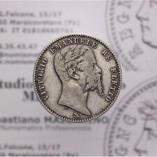 2 Lire 1860 Firenze Stemma (Re Eletto VE II) qBB LOT1751