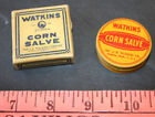 Vintage Watkins Corn Salve 3/8 oz Original Box with Tin