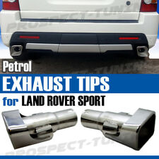 RANGE ROVER SPORT AUTOBIOGRAPHY TYPE STAINLESS EXHAUST TIPS TAIL PIPES PETROL UK