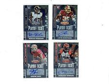 2014 Contenders Playoff Ticket Autographs 4 card lot,Dennard,Roberson,Skov +