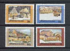 28198) NORFOLK ISLAND 1988 MNH** Nuovi** Historic buildings 4v