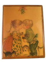 Frank Margot Switzerland Wooden Hi-Quality Music Box Jingle Bells Rare!