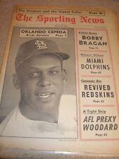 August 1966 The Sporting News - Orlando Cepeda St. Louis Cardinals HOF Slugger