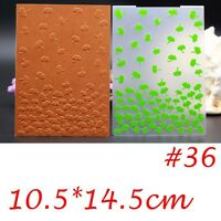 Plastic Embossing Folder Template DIY Scrapbook Paper Craft Various Pattern New