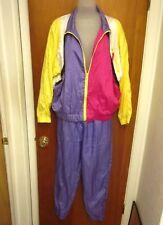 SAN FRANCISCO ORIGINALS lrg two-piece 1980s nylon track suit vtg jogging outfit