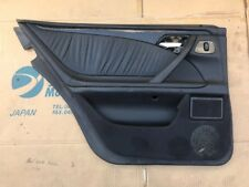 Mercedes W210 Mopf Türverkleidung Türpappe Hinten Links Leder Schwarz 2107374371