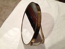 Vintage Goldtone Vanity Round Shaving Mirror