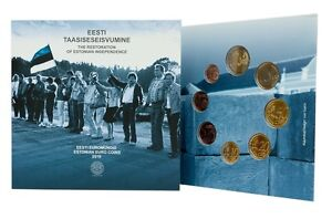 Official SET of ESTONIA Euro coins 2016 in special folder BU uncirculated