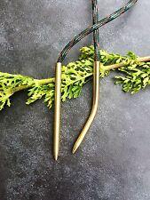 1x straight & 1x curved 550 Paracord Needle / Fid, Rope Needle,Bracelet, Monkeys