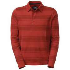 NORTH Face POLO Shirt SMALL Red STRIPED Wedgewood CB49 Mens COTTON Size SZ MAN**